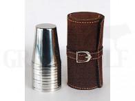 Beier Travel Companion 10 Edelstahlbecher 70 mm in Lederfutteral Leder braun