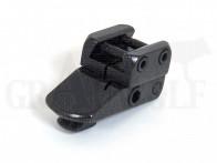 EAW Vorderfuß für SM gekröpft 20 mm für Prismenschiene Bh. 14 mm