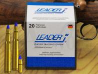 8x57 IRS  8,2 mm 126 gr / 8,2 g Leader LJG-SX Messing Hohlspitz Patronen 20 Stück