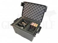 MTM Tactical Pistol Case 4 Waffenkoffer für 4 Pistolen Dunkelgrau