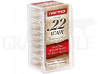 .22 WMR 40 gr / 2,6 g Norma Hohlspitz Patronen 50 Stück