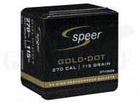 .277 / 7 mm (6.8) 115 gr / 7,5 g Speer Gold Dot SP Geschosse 50 Stück